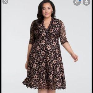 Gorgeous plus size lace Kiyonna cocktail dress 3x